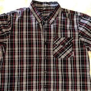 Men's Plaid Oakley  Button Shirt Size L